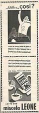 W8783 Latte con miscela LEONE - Pubblicità del 1958 - Vintage advertising