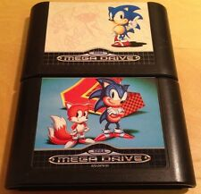 SONIC THE HEDGEHOG 1 & 2 for SEGA MEGA DRIVE cartridges only WITH FREE UK P&P