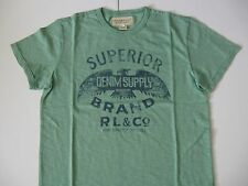 DENIM & SUPPLY RALPH LAUREN Men's Green Slub Jersey Hawk T-Shirt M