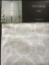 *New* ENVOGUE Gray Silver Quatrefoil Window Curtain Panels 50x96 PAIR