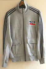 RETRO TEAM ADIDAS GREY URBAN WAVEY FESTIVAL ZIPPY SPORTS JUMPER UNISEX MENS M