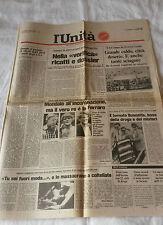 L'UNITA' - QUOTIDIANO *NELLA VERIFICA RICATTI E DOSSIER*16  LUGLIO 1984*