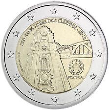 Portugal 2 Euro Gedenkmünze 2013 bfr. Glockenturm der Clerigos-Kirche