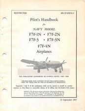 1947 GRUMMAN F7F-1N,2N,3,3N,4N TIGERCAT PILOT FLIGHT MANUAL AIRCRAFT HANDBOOK-CD