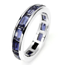 Sterling Silver 925 Genuine Natural Baguette Iolite Ring Sz S.5 (US 9.5)