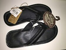 """WEMBLEY Men's Fish Hook Flip Flops """"BLACK"""" Summer Sandal Shoes Size Med(8-9) NWT"""