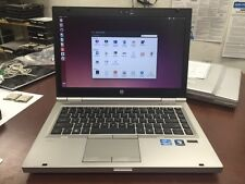 "HP EliteBook 8460p 14"" i5-2520M 2.50Ghz 4GB 320GB Linux WiFi WebCam Laptop w/ AC"