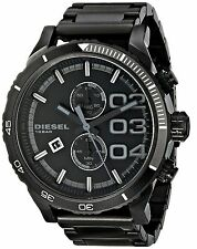 Diesel Men's DZ4326 Double Down Series Analog Display Quartz Black Chrono Watch