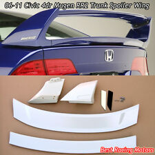 Mu-gen RR V2 Style Trunk Spoiler Wing (ABS) Fits 06-11 Honda Civic 4dr