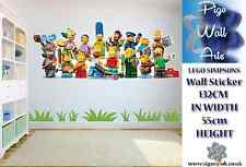 Lego Simpsons Wall Sticker Kids Bedroom Wall Sticker Simpsons Extra large