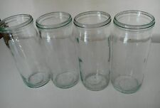 FOWLERS VACOLA PRESERVING GREEN JARS 4 x No. 74 JARS - RARE
