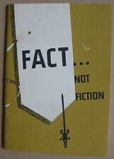 Cancer Booklet 1956 General Electric FACT NOT FICTION (NYC Cancer Committee)