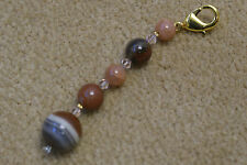 Scissor Fob - Tiger Eye and Swarovski crystals