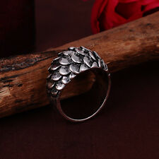 NEW Jewelry Fashion 316l stainless steel Retro Punk design ring US size9 Q11