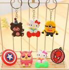 Soft Rubber Key rings Key Chain Cartoon Characters Minions Spider Man Party Gift