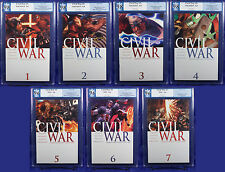 Civil War #1-7 (2006) NM + PGX 9.8 - 9.6 (not CGC) Cap vs. Iron Man Movie!!!