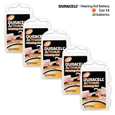 Hearing Aid Batteries Size: 13 by Duracell  Packs of 4 (20 Cells Total) Fresh