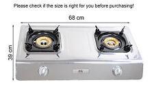 Gas Stove Cooker 2 Burners Portable Camp Indoor Caravan LPG 7.2kW WOK NSD2 NEW