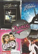 Grease / Flashdance / Footloose / Saturday Night Fever New BoxSet Region 4 Seale