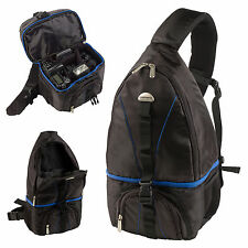 Grundig Camera Rucksack Sling Backpack Compact Lense Adjustable Padding Case Bag