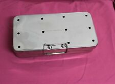 "OR Grade Sterilization Cassette Box 8"" X 12"" With Silicone Pad Surgical Instrume"