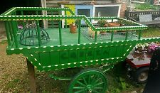 Vintage Market Barrow Hand Cart Mobile Stall, Suspension, 8' x 3' Deck 6' x 3'