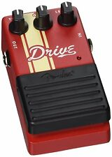 Fender Competition Drive Pedal Red with Cream Competition Stripes New/Boxed
