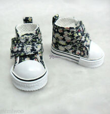 Yo-SD 1/6 Bjd Dollfie Leeke Doll Shoes 2 Strap Flower Sneaker Boots White