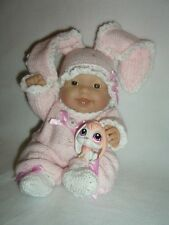 "5"", 8"", 10"" Berenguer doll's outfit knitting PATTERN Pink Bunny"