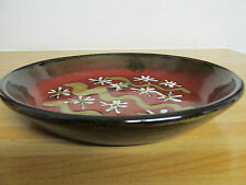 "VINTAGE DECORATIVE STUDIO POTTERY PLATE / DISH MARKED ""D M"""