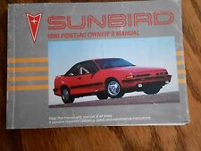 90 Sunbird Owners Operators Manual