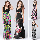 NEW Ladies Sexy Summer Casual Boho Floral Evening Party Beach Long Maxi Dresses