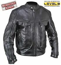 Bandit Buffalo Leather Cruiser Motorcycle Jacket with Level-3 Armor size S