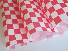 Red Check Dry Wax Paper Deli Wrap and Basket Liner | 25ct