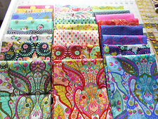 Complete Set  9 x11~ SLOW & STEADY Rabbit  Tula Pink Cotton Quilt Fabric~Animal