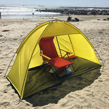 Yellow 2 person Pop Up Cabana Beach Shelter Baby Tent Sun Shade Outdoor UV