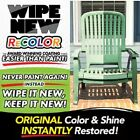 Recolor Wipe New Clear Coating  & Sealant As Seen On Tv Recolor old to look new!