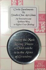 CIRCLE MIRROR LOVING PLACES CHILD IN THE ARMS OF GRANDMA Stained Glass Supplies