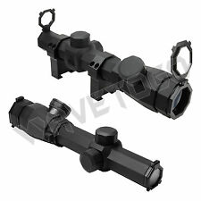 NcSTAR 1.1-4X20 Octagon Rubber Armored Blue Red Illuminate Mil-Dot Reticle Scope