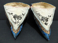ANTIQUE CHINESE ANCIENT EMBROIDERY/SILK/LINEN/LOTUS PRINCESS SHOE RARE ONE 5883