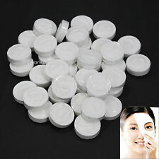 100 PCS DIY White Natural Skin Care Compressed Facial Face Pressed Cotton Mask