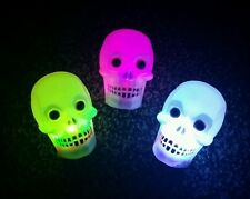 Lot of 3 x colour changing led skull novelty lights NEW