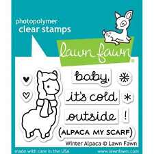 NEW LAWN FAWN WINTER ALPACA CLEAR ACRYLIC STAMP SET