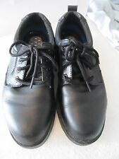 Dr Scholl's Gel Cushion Black Leather Uniform or Athletic Sneakers! Sz 7 1/2 W!
