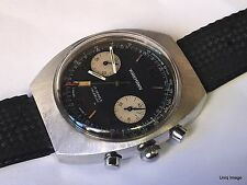 1970's WAKMANN by Breitling Chronograph Valjoux 7734 Stainless Steel Large Watch