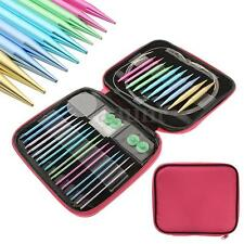 13 Sizes Interchangeable Aluminium Circular Crochet Knitting Needle Set Case