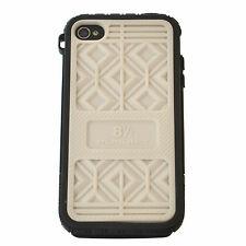 MUSUBO Hard Plastic Case Swappable Back Cover Apple iPhone 4/4S - WHITE + BLACK