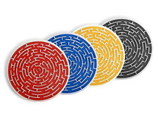 Roll-A-Coasters-Set of 4 Different Colors-Maze Game-Fun-Unique Coasters- New