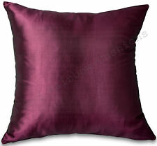 "Plum/Purple/Aubergine Taffeta/Faux Silk 18"" Cushion Cover BNIP"