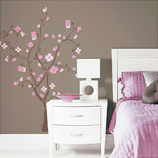 CHERRY BLOSSOM TREE wall stickers MURAL 102 decals 60 inches high spring flower